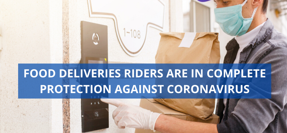 Food Deliveries Riders Are In Complete Protection Against Coronavirus