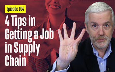 4 Tips in Getting Jobs in Supply Chain